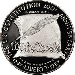 1987 S CONSTITUT S$1 PF obverse