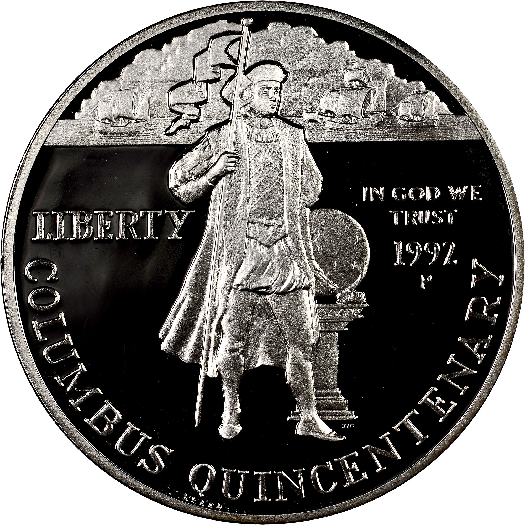Christopher Columbus 500th Anniversary 4 Bronze Coins