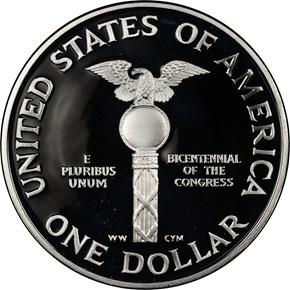 1989 S CONGRESS S$1 PF reverse