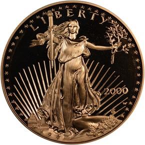 2000 W EAGLE G$50 PF obverse