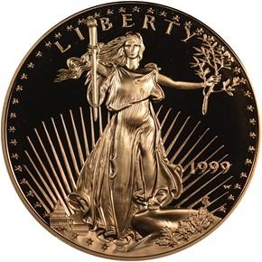 1999 W EAGLE G$50 PF obverse