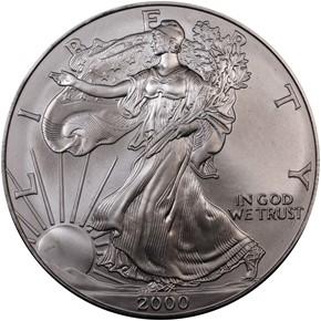 2000 EAGLE S$1 MS obverse