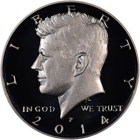 2014 P SILVER HIGH RELIEF 50C PF obverse