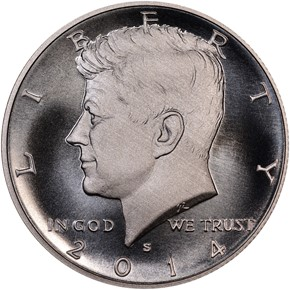 2014 S SILVER HIGH RELIEF 50C SP obverse