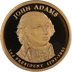 2007 S JOHN ADAMS $1 PF obverse