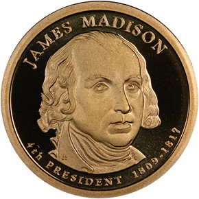 2007 S JAMES MADISON $1 PF obverse