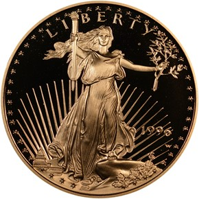 1996 W EAGLE G$25 PF obverse