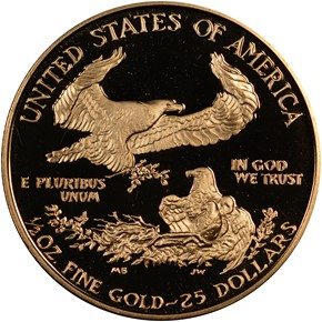 1987 P EAGLE G$25 PF reverse