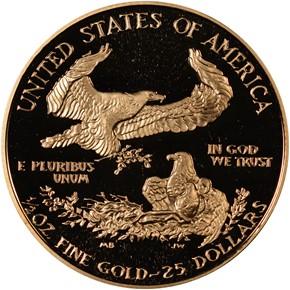 1988 P EAGLE G$25 PF reverse