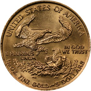 1986 EAGLE G$5 MS reverse