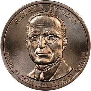 2015 P HARRY S. TRUMAN $1 MS obverse