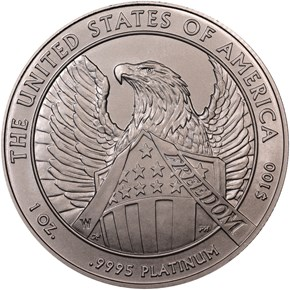 2007 W EAGLE BURNISHED PLATINUM EAGLE P$100 MS reverse