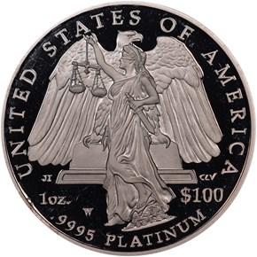 2008 W EAGLE P$100 PF reverse