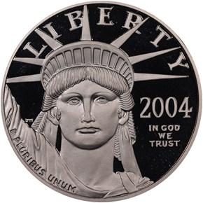 2004 W EAGLE P$100 PF obverse