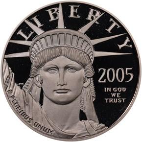 2005 W EAGLE P$100 PF obverse