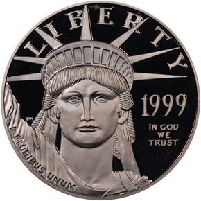 1999 W EAGLE P$100 PF obverse