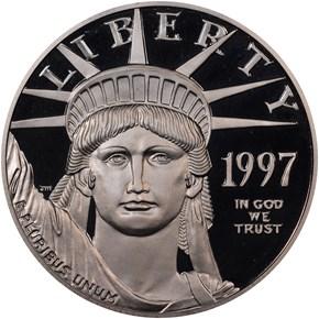 1997 W EAGLE P$100 PF obverse