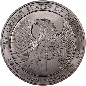 2007 W EAGLE BURNISHED PLATINUM EAGLE P$50 MS reverse
