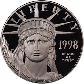 1998 W EAGLE P$50 PF obverse