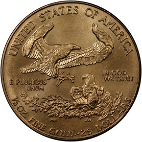 1994 EAGLE G$25 MS reverse