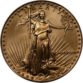 1987 EAGLE G$25 MS obverse