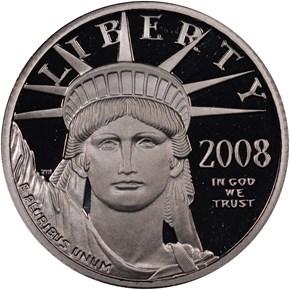 2008 W EAGLE P$25 PF obverse