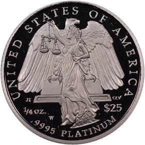 2008 W EAGLE P$25 PF reverse