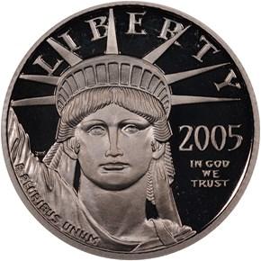 2005 W EAGLE P$25 PF obverse