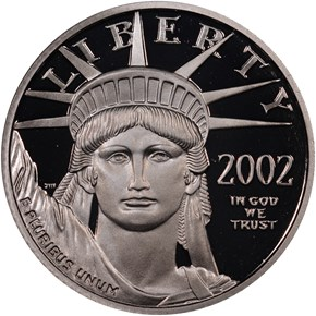 2002 W EAGLE P$25 PF obverse
