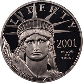 2001 W EAGLE P$25 PF obverse