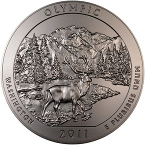 2011 P 5oz SILVER OLYMPIC 25C SP obverse