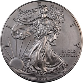 2012 W EAGLE BURNISHED SILVER EAGLE S$1 MS obverse