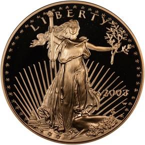 2003 W EAGLE G$25 PF obverse