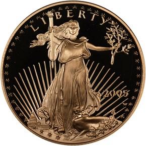 2005 W EAGLE G$25 PF obverse