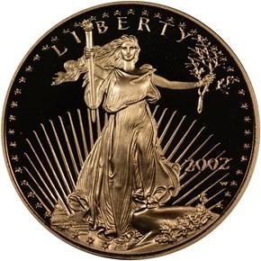 2002 W EAGLE G$10 PF obverse