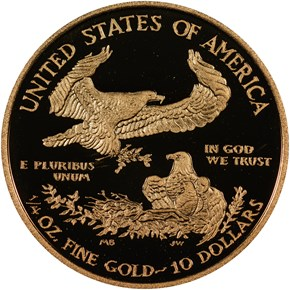 2011 W EAGLE G$10 PF reverse
