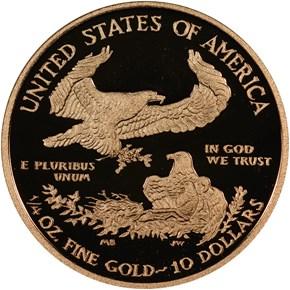 2013 W EAGLE G$10 PF reverse