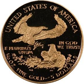 1989 P EAGLE G$5 PF reverse