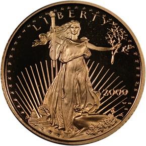 2000 W EAGLE G$5 PF obverse
