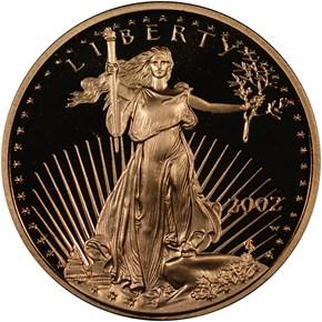 2002 W EAGLE G$5 PF obverse