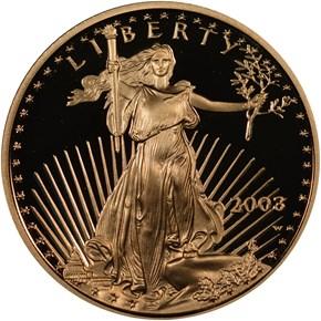 2003 W EAGLE G$5 PF obverse