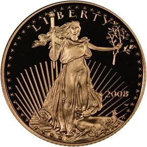 2008 W EAGLE G$5 PF obverse