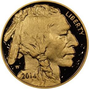 2014 W BUFFALO .9999 FINE G$50 PF obverse