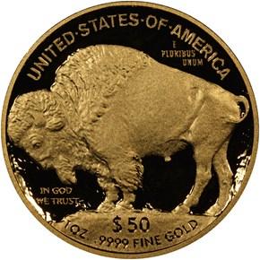 2014 W BUFFALO .9999 FINE G$50 PF reverse