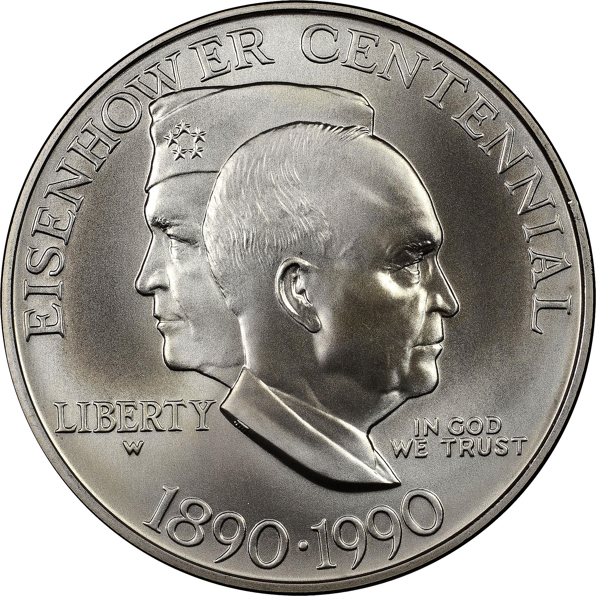 1990 W Eisenhower S$1 MS Modern Commemoratives | NGC