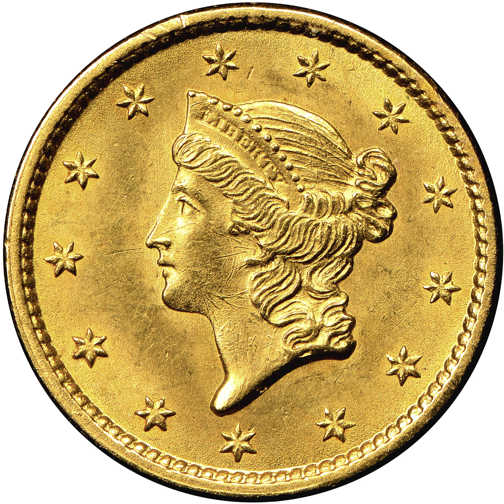 1853 G 1 Ms Gold Dollars Ngc