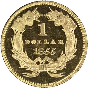 1855 G$1 PF reverse