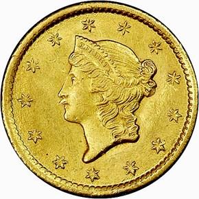 1852 O G$1 MS obverse