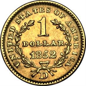 1852 D G$1 MS reverse