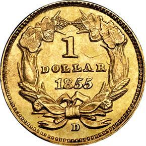 1855 D G$1 MS reverse